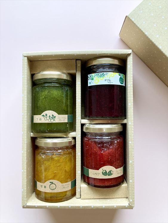 果実野菜を使った無添加手作りジャム(4本詰合せ)