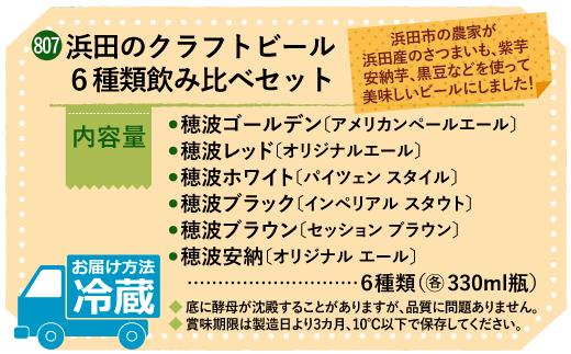 浜田のクラフトビール 6種類飲み比べセット