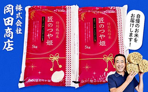 【令和2年産】特別栽培米「匠のつや姫」5kg×2袋