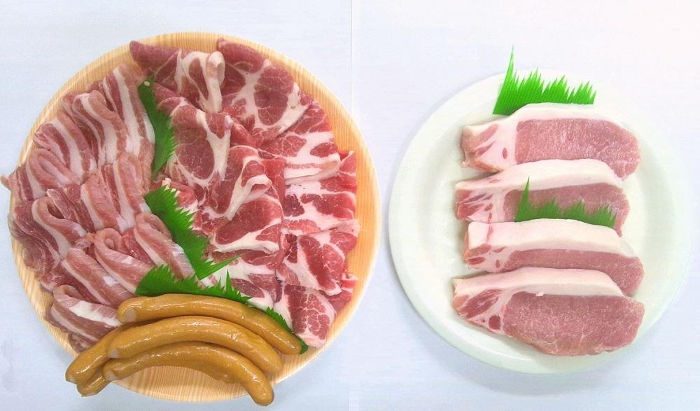 浜田で生産されたケンボロー芙蓉ポーク焼き肉&ステーキ肉